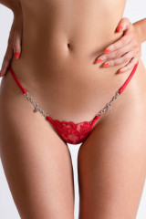 Lucky Cheeks Love Story Luxury String, Rot, ArtikelNr LC238LSR