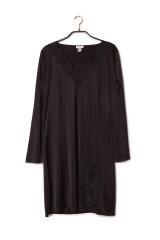 Gattina Nachthemd, langarm, Schwarz, ArtikelNr 390343