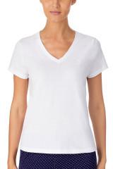 Lauren Ralph Lauren V-Neck T-Shirt, Weiß, ArtikelNr I811527