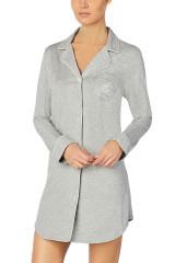 Lauren Ralph Lauren Classic Notch Collar Sleepshirt, Grau, ArtikelNr I811950