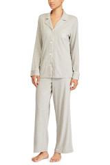 Lauren Ralph Lauren Classic Notch Collar Pyjama, Grau, ArtikelNr I819950