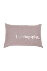David Fussenegger Kissenhülle SILVRETTA Lieblingsplatz rauch, Braun, ArtikelNr 79229366
