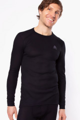 Odlo Shirt langarm, warm Eco, Schwarz, ArtikelNr 159102