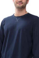 Mey Herrenwäsche Shirt langarm, Blau, ArtikelNr 66640