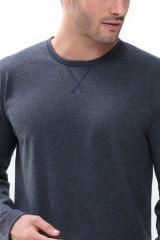 Mey Herrenwäsche Shirt langarm, Grau, ArtikelNr 66640