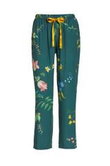 Pip Studio Babbet Woven Fleur Grandeur Trousers Long, Grün, ArtikelNr 51500248-251