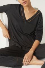 Simone Perele Shirt langarm, Grau, ArtikelNr 19S903