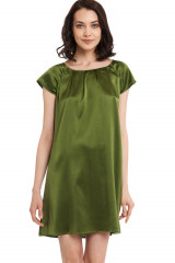 Gattina Nachthemd, kurzarm, Grün, ArtikelNr 381423