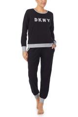 DKNY Top & Jogger Set, Schwarz, ArtikelNr YI2919259