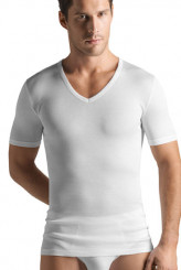 Hanro Cotton Pure Shirt, V-Ausschnitt