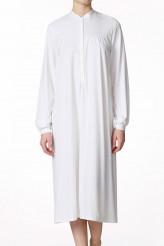 CalidaSoft CottonLangarm-Nachthemd mit Knopfleiste