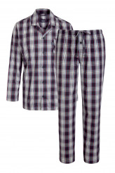 JockeyNightwearPyjama lang Karo, durchgeknöpft