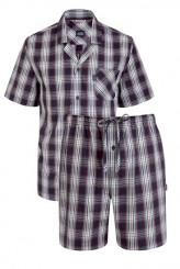 JockeyUSA Original NightwearPyjama kurz Karo, durchgeknöpft
