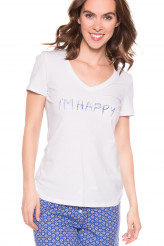 Bee Happy Enjoy Today Shirt, kurzarm