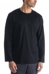 Mey Black Classic Night Shirt Langarm Herren Nachtwäsche Pulli Herren 20440