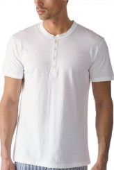 Mey HerrenwäscheLoungeT-Shirt, Knopfleiste