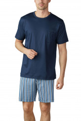 Mey Herrenwäsche Night Basic Pyjama kurz