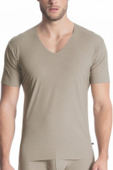 Calida Fresh Cotton V-Shirt, clean cut