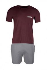 SkinySloungewear TrendPyjama kurz wine