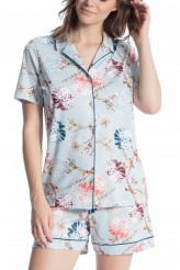 CalidaCosy FlowersPyjama kurz durchgeknöpft