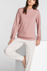 Calida Sweet Dreams Pyjama mit Bündchen rose