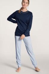 CalidaSweet DreamsPyjama mit Bündchen blue