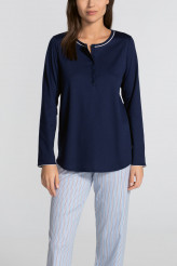 CalidaSweet DreamsPyjama mit Knopfleiste blue