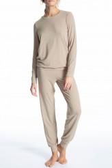 CalidaCosy WoolPyjama lang mit Bündchen