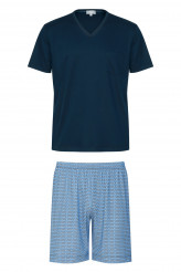 Mey HerrenwäscheNight BasicPyjama kurz Print