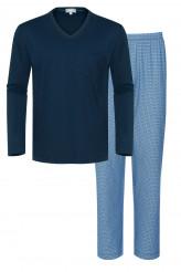 Mey HerrenwäscheNight BasicPyjama lang Print