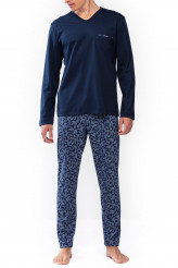 Mey Herrenwäsche Night Basic Pyjama lang, Paisley