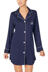 Lauren Ralph Lauren Hammond Knits Classic Notch Collar Sleepshirt