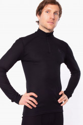 OdloActive Warm EcoShirt langarm mit Reißverschluss