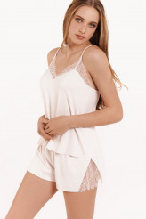 Lisca Selection Rose Pyjama - Top mit Frenchpanty