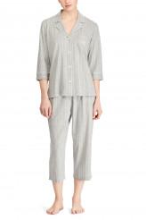 Lauren Ralph LaurenKnits NightwearNotch Collar Capri Pyjama