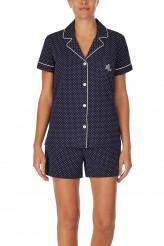 Lauren Ralph LaurenKnits NightwearNotch Collar Boxer Pyjama