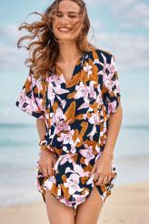 Rosa Faia70s HawaiiTunika Tahiti