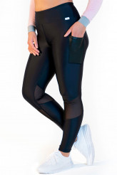Calao Fitness Leggings high waist - mesh black