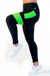 Calao Fitness Neon Leggings high waist - neon green