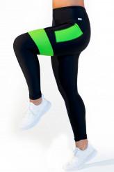 CalaoFitness NeonLeggings high waist - neon green