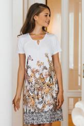 HutschreutherClassicKleid kurzarm, Giraffenprint