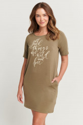 Jockey Loungedress Loungedress Natures Echo, kurzarm