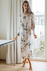 HutschreutherFashion 2021Nachthemd lang Blumenprint