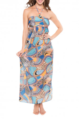 Abbildung zu Kleid lang (ESA1181) der Marke Antigel aus der Serie La Bomba Africa