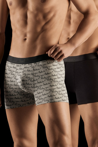 Abbildung zu Boxer, 2er Parlez-vous & Uni Schwarz (XB53M) der Marke Aubade aus der Serie Aubade Men