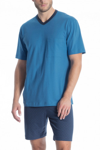 Abbildung zu Pyjama kurz Imprint (40080) der Marke Calida aus der Serie Relax Nachtwäsche