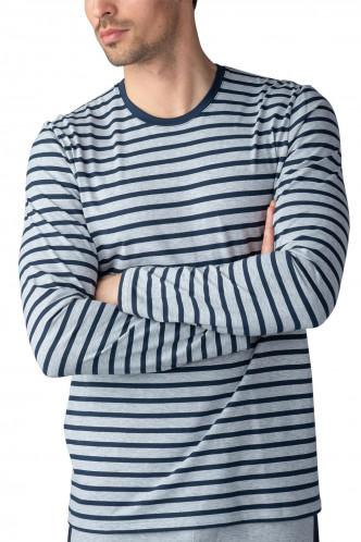 Abbildung zu Shirt langarm, Ringel (51040) der Marke Mey Herrenwäsche aus der Serie Lounge