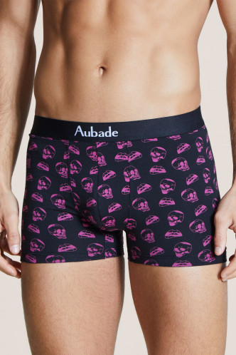 Abbildung zu Boxer, 2er Neon Skull & Uni Gris Chiné (XB58T) der Marke Aubade aus der Serie Aubade Men