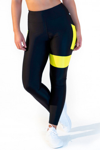 Abbildung zu Leggings high waist - neon yellow (FN1281Y) der Marke Calao aus der Serie Fitness Neon