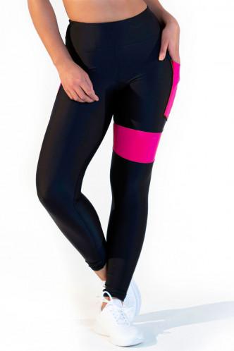 Abbildung zu Leggings high waist - neon pink (FN1281P) der Marke Calao aus der Serie Fitness Neon